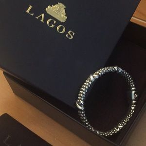 Lagos Signature Caviar Beaded X Bracelet